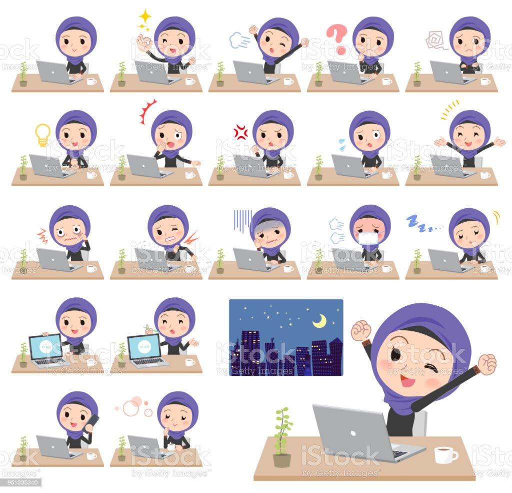 Arab women_desk work