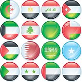 Super Glossy flag button. Does not use gradient mesh.