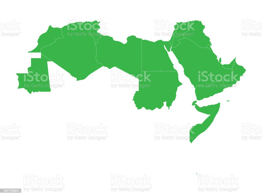 Arab world states blank political map of 22 arabicspeaking countries arab world states blank political map of 22 arabic speaking countries of the arab gumiabroncs Gallery
