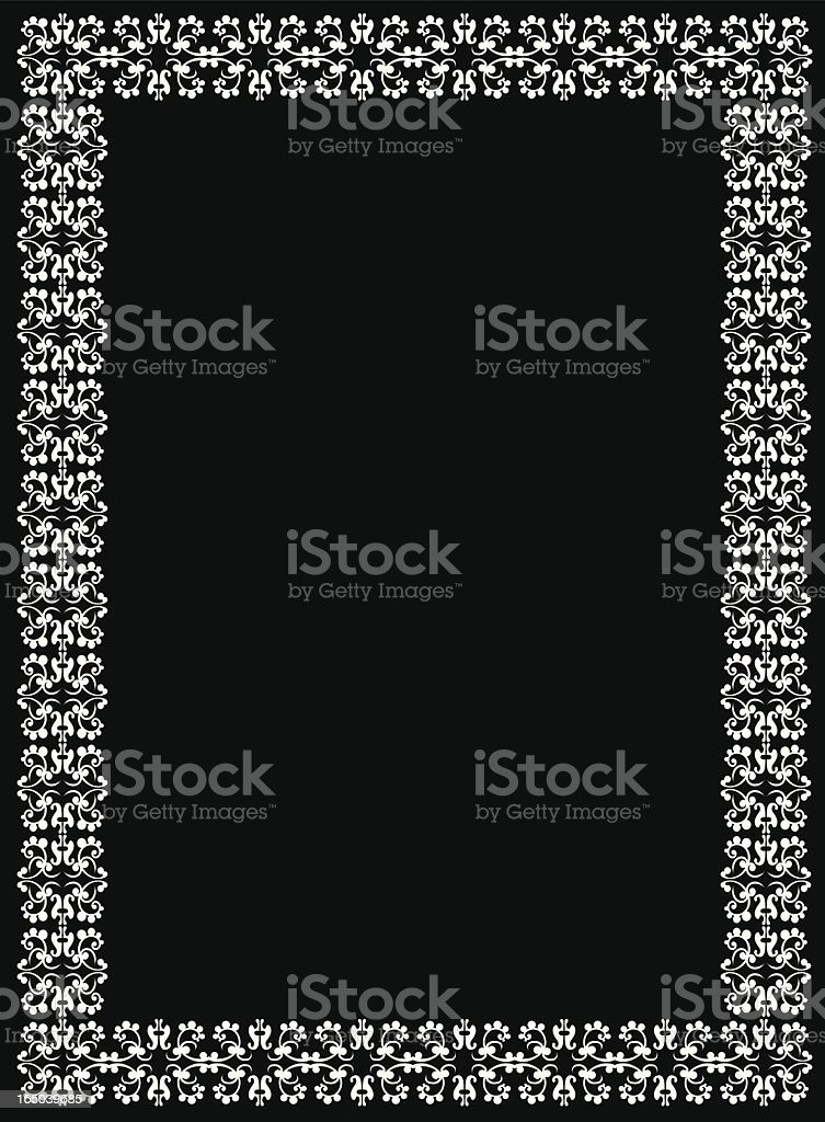 Arabesque border royalty-free stock vector art