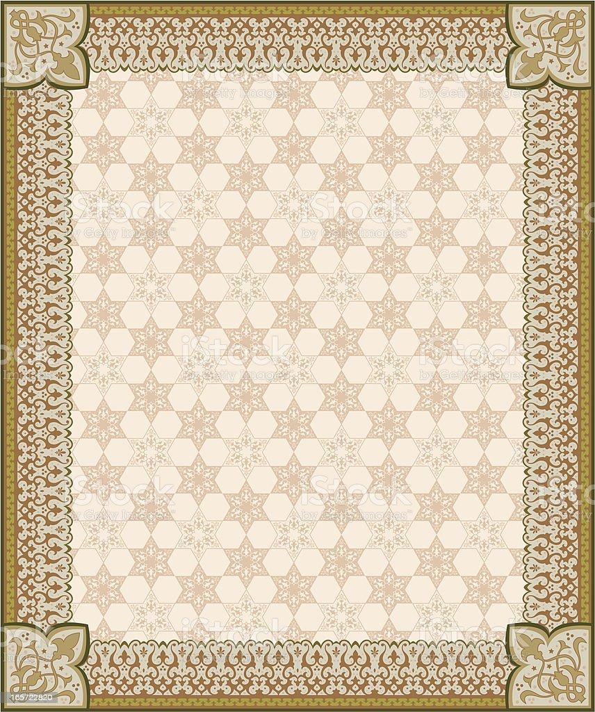 Arabesque Frame royalty-free stock vector art