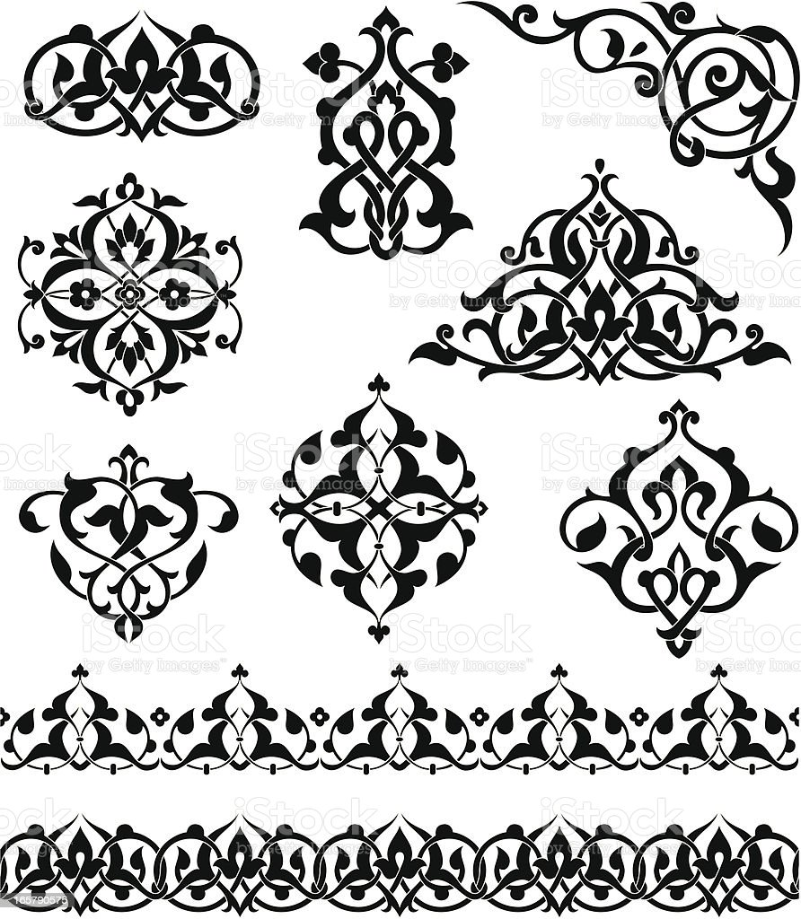 Arabesque Ornaments vector art illustration