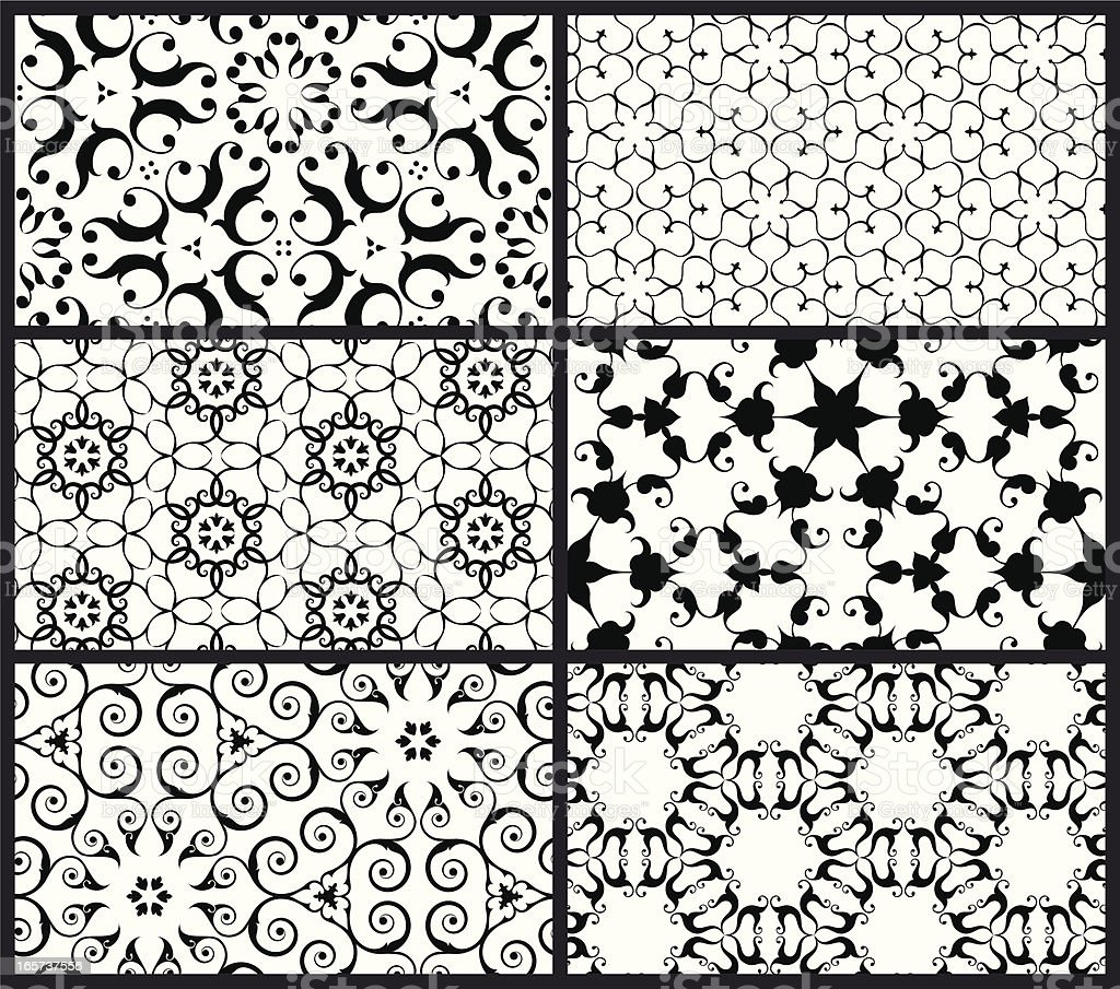 Arabesque Patterns royalty-free stock vector art