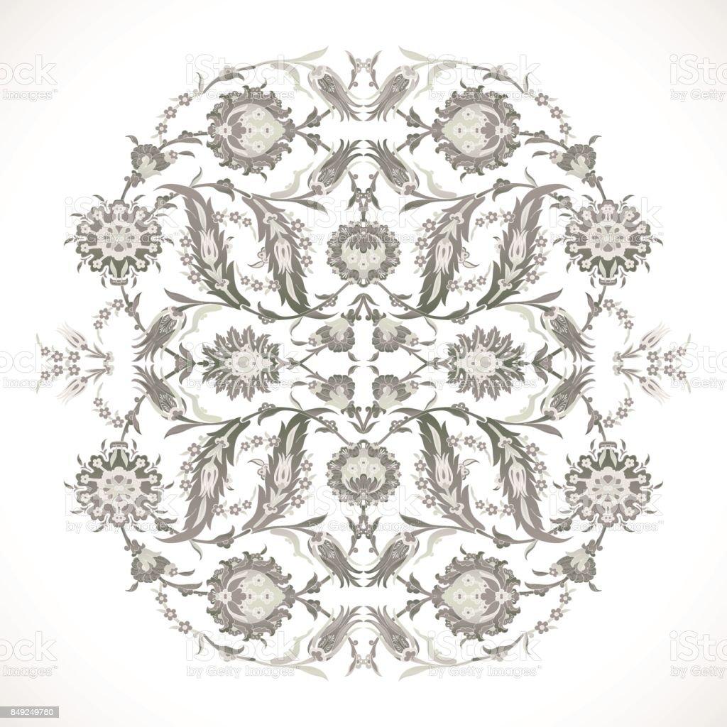 Arabesque Vintage Outline Decor Ornate Pattern For Design Template Vector Eastern Motif Floral Border