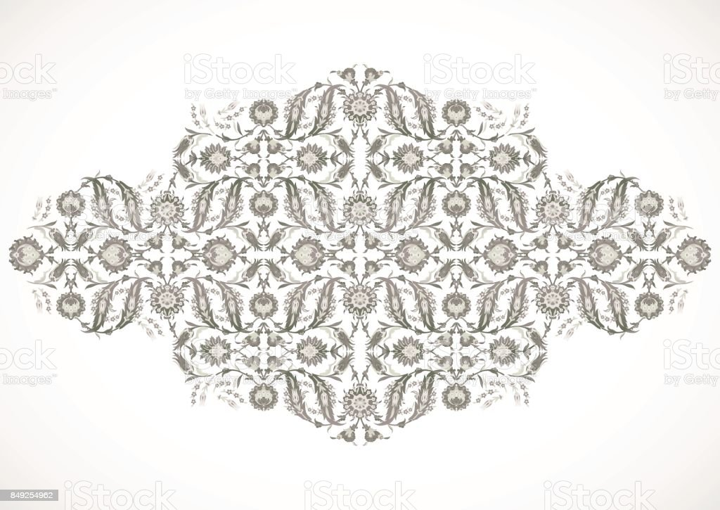 Arabesque Vintage Outline Decor Ornate Pattern For Design Template Vector Eastern Motif Floral Border