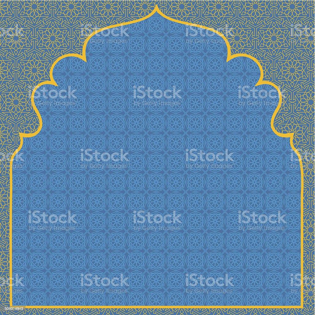 Arabian blue background vector art illustration