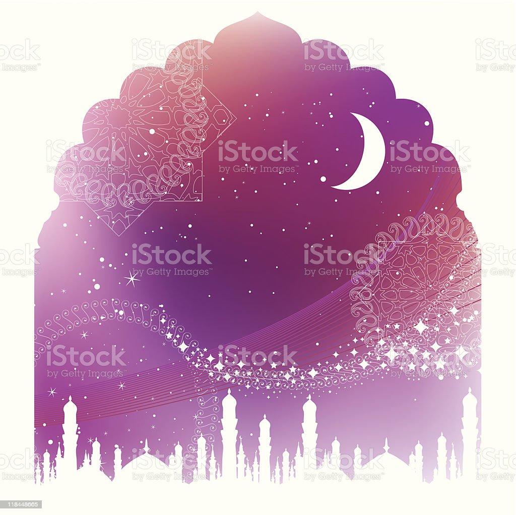 Arabian Dream vector art illustration