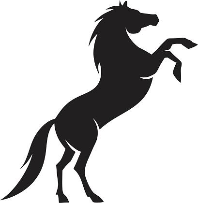 Arabian horse silhouette
