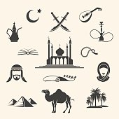 Arabian icons set