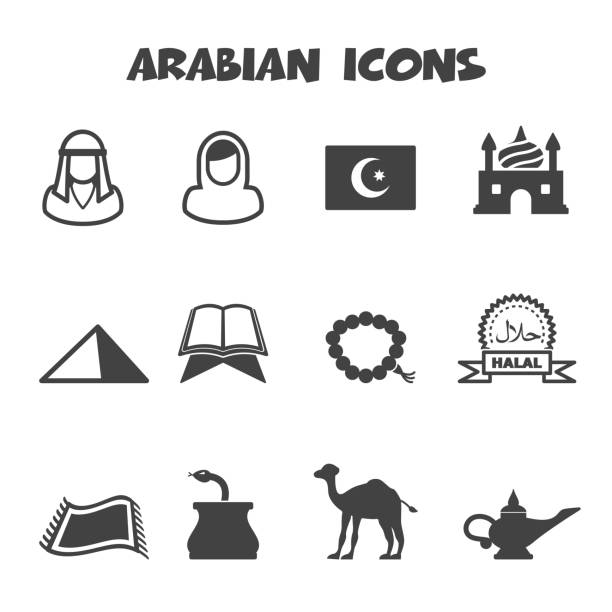 arabian ikony - arab stock illustrations