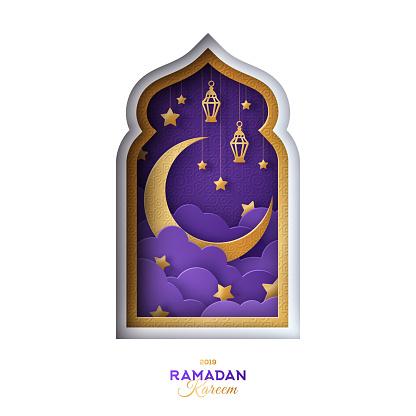 Arabian night in window