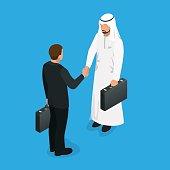 Arabian partners handshake