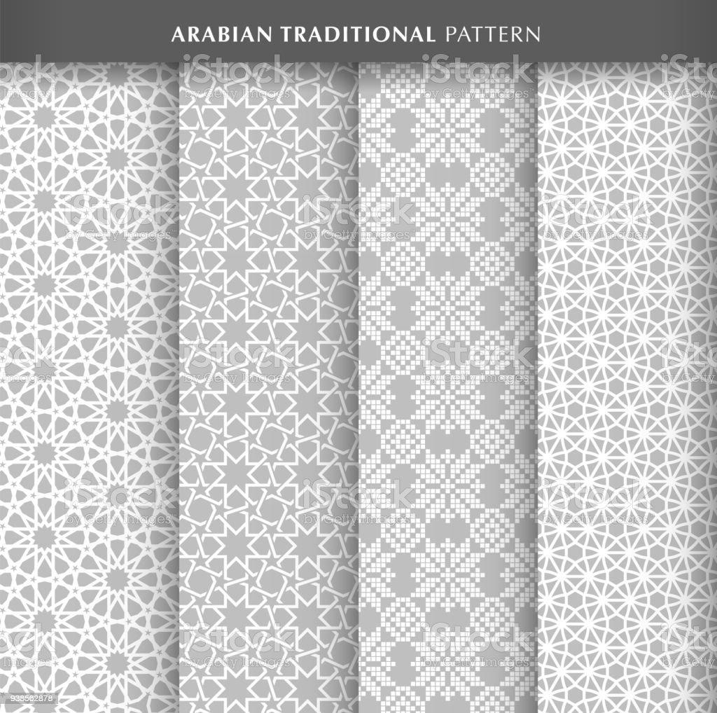 Arabian pattern design vector art illustration