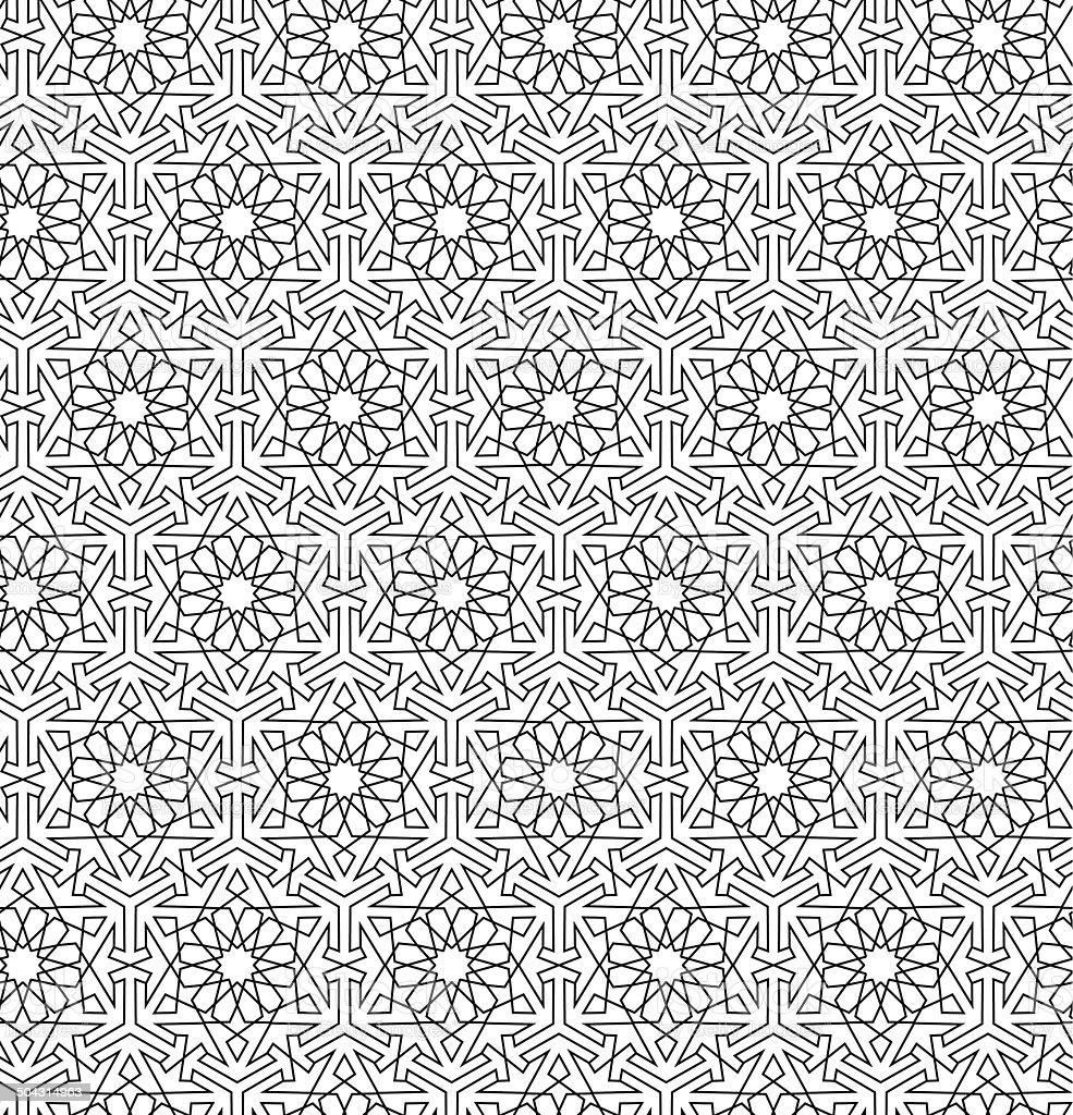 Arabian seamless net pattern vector art illustration