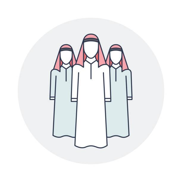 arabski pracowników - arab stock illustrations