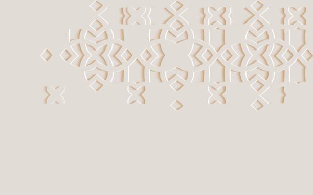 arabisch arabeske design grußkarte für ramadan kareem.islamische ornamentale monochrome detail des mosaiks. vector illustration. - ramadan kareem stock-grafiken, -clipart, -cartoons und -symbole
