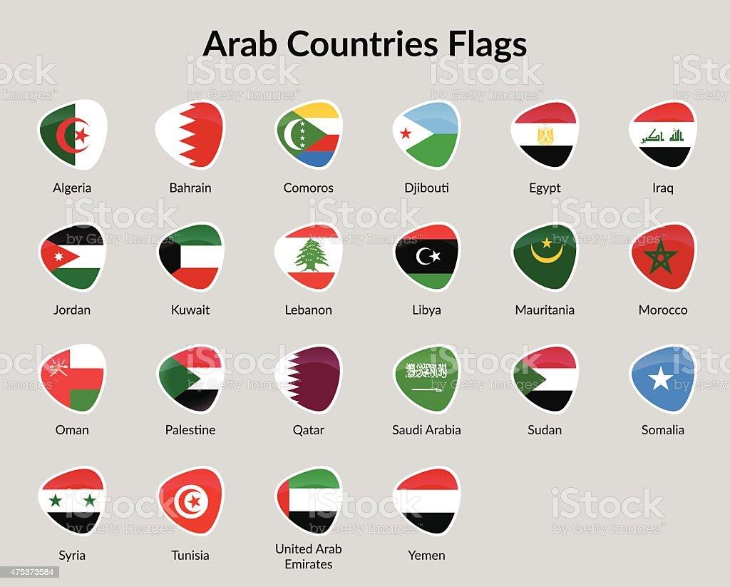 Banderas de los 22 paises arabes