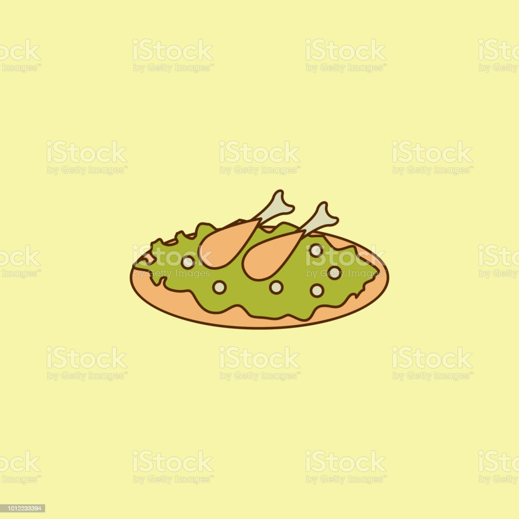 Arabic cuisine colored field outline icon. Element of Arabian culture icon for mobile concept and web apps. Field outline Arabic cuisine icon can used for web and mobile vector art illustration