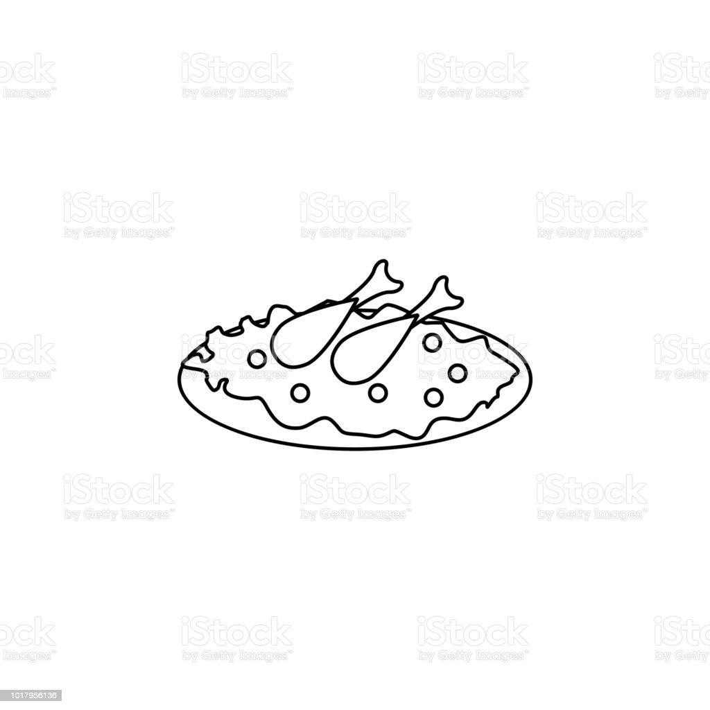 Arabic cuisine icon. Element of Arab culture icon for mobile concept and web apps. Thin line  icon for website design and development, app development. Premium icon vector art illustration