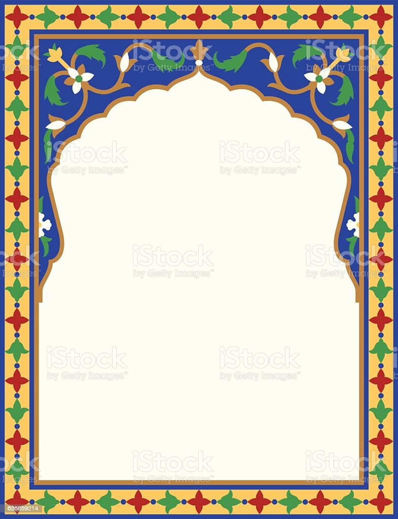 Arabic floral arch traditional islamic background mosque for Maison traditionnelle tunisienne