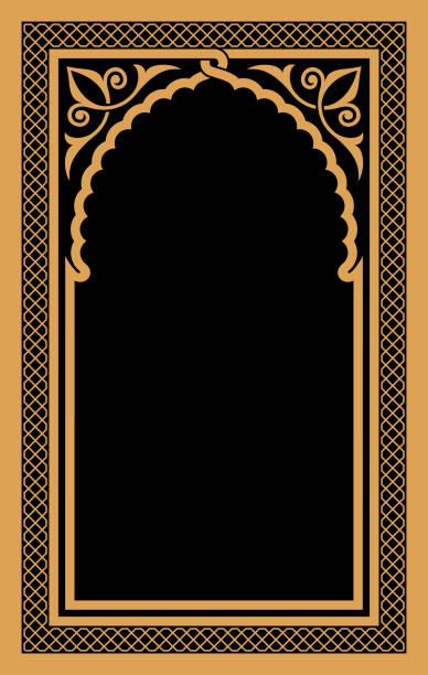stockillustraties, clipart, cartoons en iconen met arabische bloemenboog. - turkse cultuur