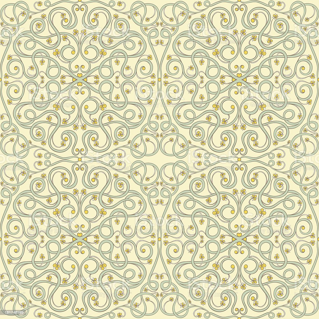 Arabic floral pattern royalty-free stock vector art