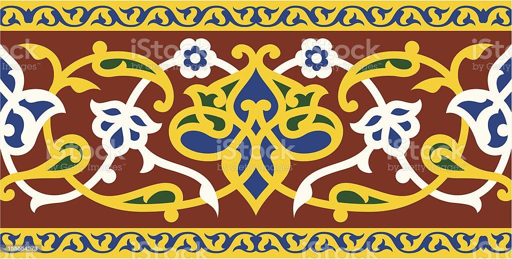 Arabic Floral Seamless Border royalty-free stock vector art