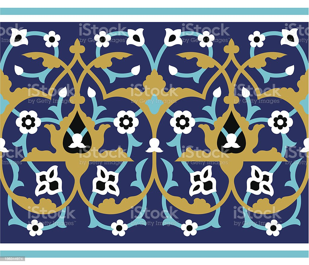 Arabic Floral Seamless Border royalty-free arabic floral seamless border stock vector art & more images of arabic style
