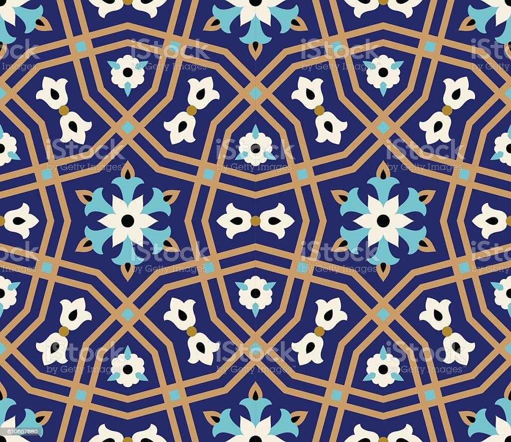 Arabic Floral Seamless Pattern. Traditional Arabic Islamic Background. vector art illustration