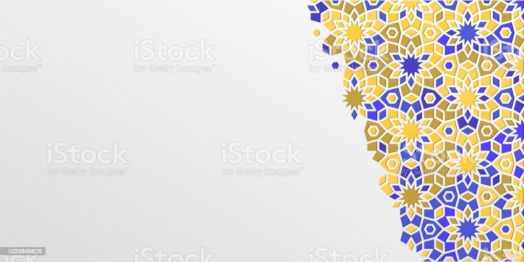 Ilustración de Fondo Para Ramadán Kareem En árabe Girih Diseño ...