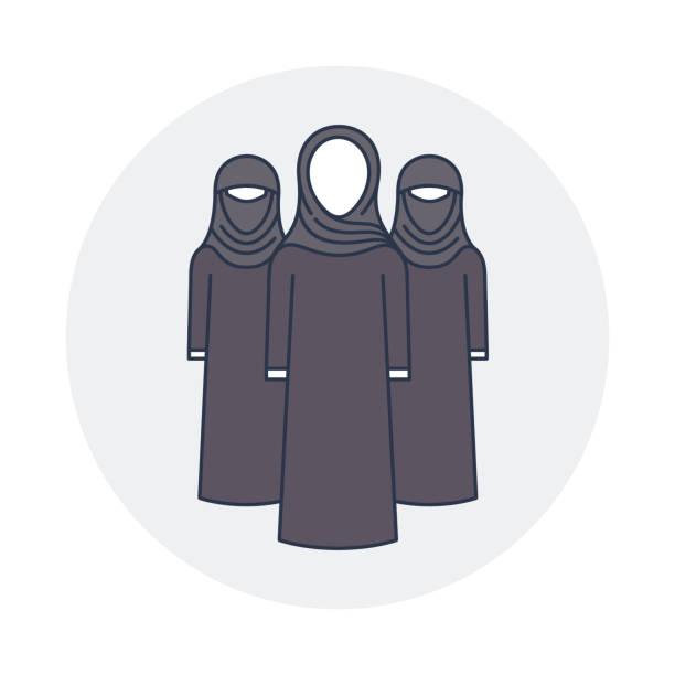 arabski dziewczyny - arab stock illustrations