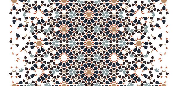 Arabic modern border pattern.