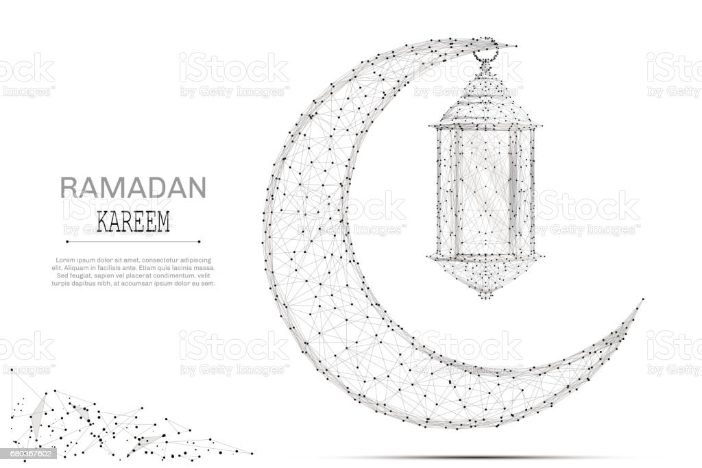 Arabic Moon and ramadan lantern gray royalty-free arabic moon and ramadan lantern gray stock vector art & more images of abstract
