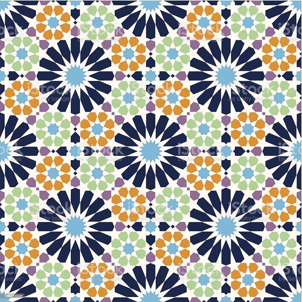 Arabic mosaic vector art illustration