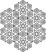 arabic ornate loopable pattern design element