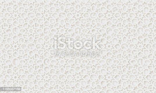 istock Arabic pattern background. Islamic ornament vector. 1155037156
