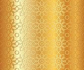 arabic seamless gold pattern background