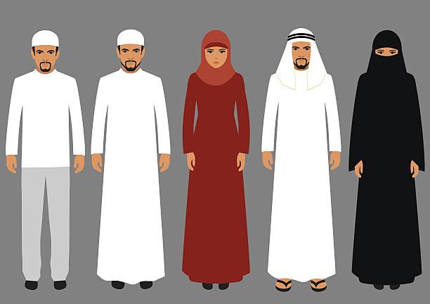 arabic people - emirati woman 幅插畫檔、美工圖案、卡通及圖標