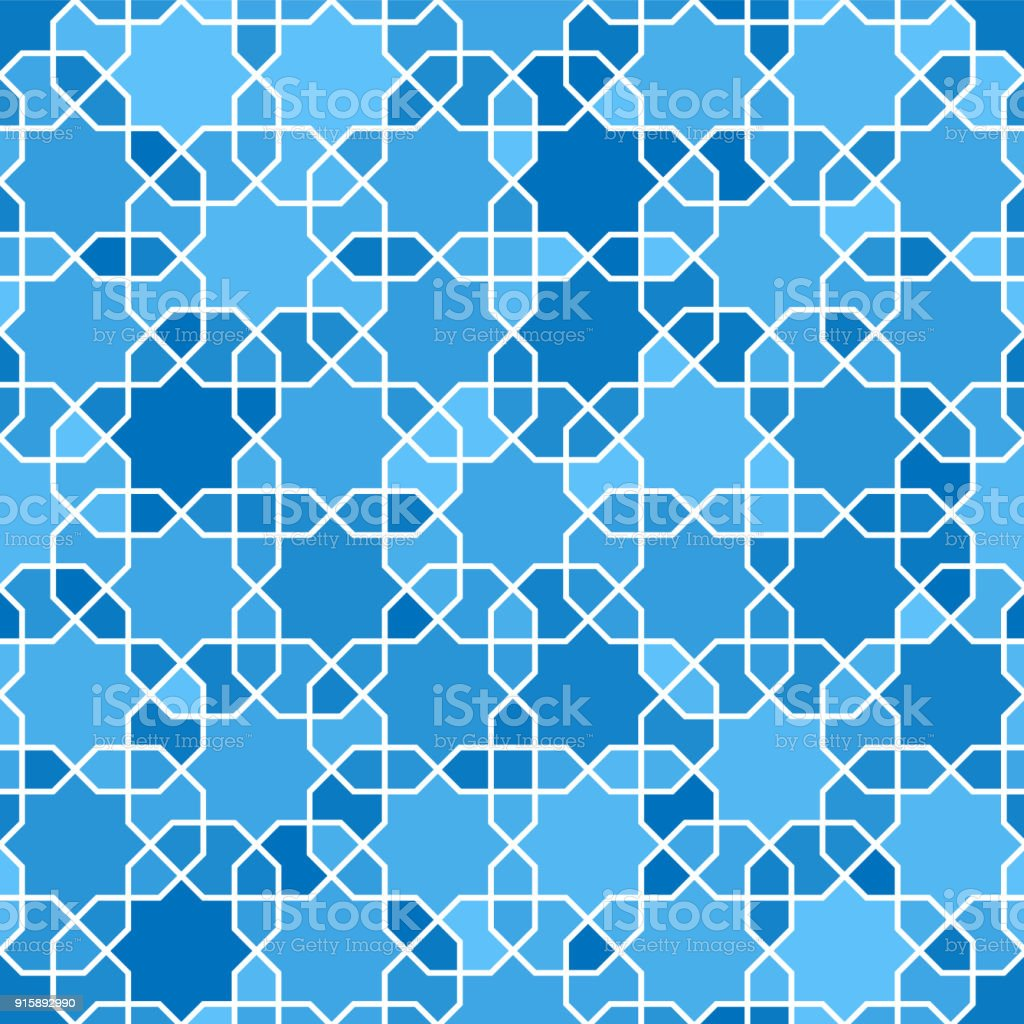 Arabische Seamless Pattern. Muster Füllt. Orientalische, Arabische Stil.  Mosaik Seamless Pattern.