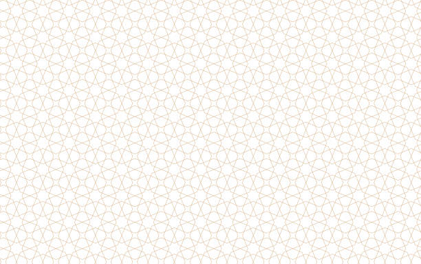 arabic stars seamless pattern - бесшовный узор stock illustrations