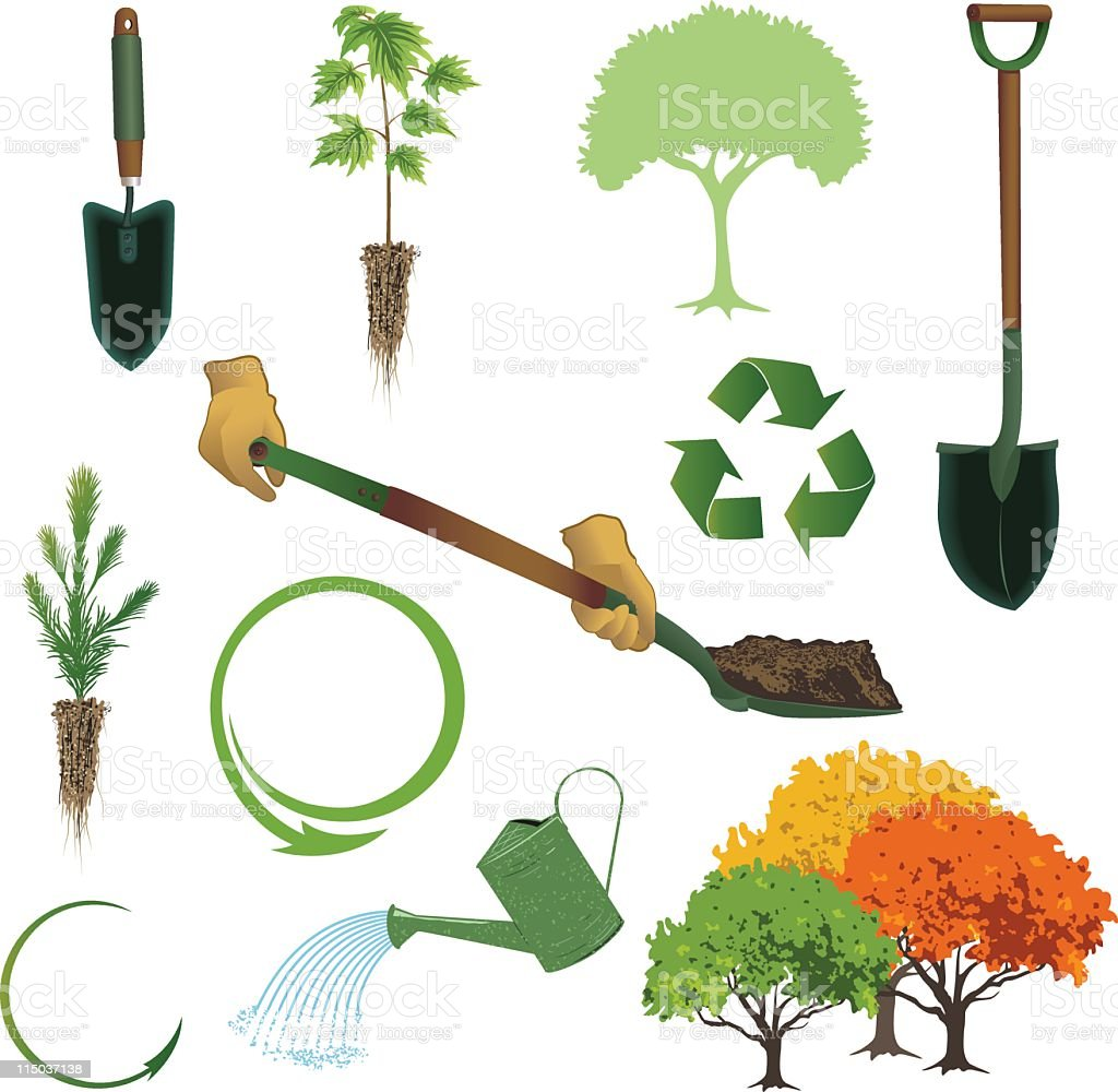 Arbor Day Collection royalty-free stock vector art