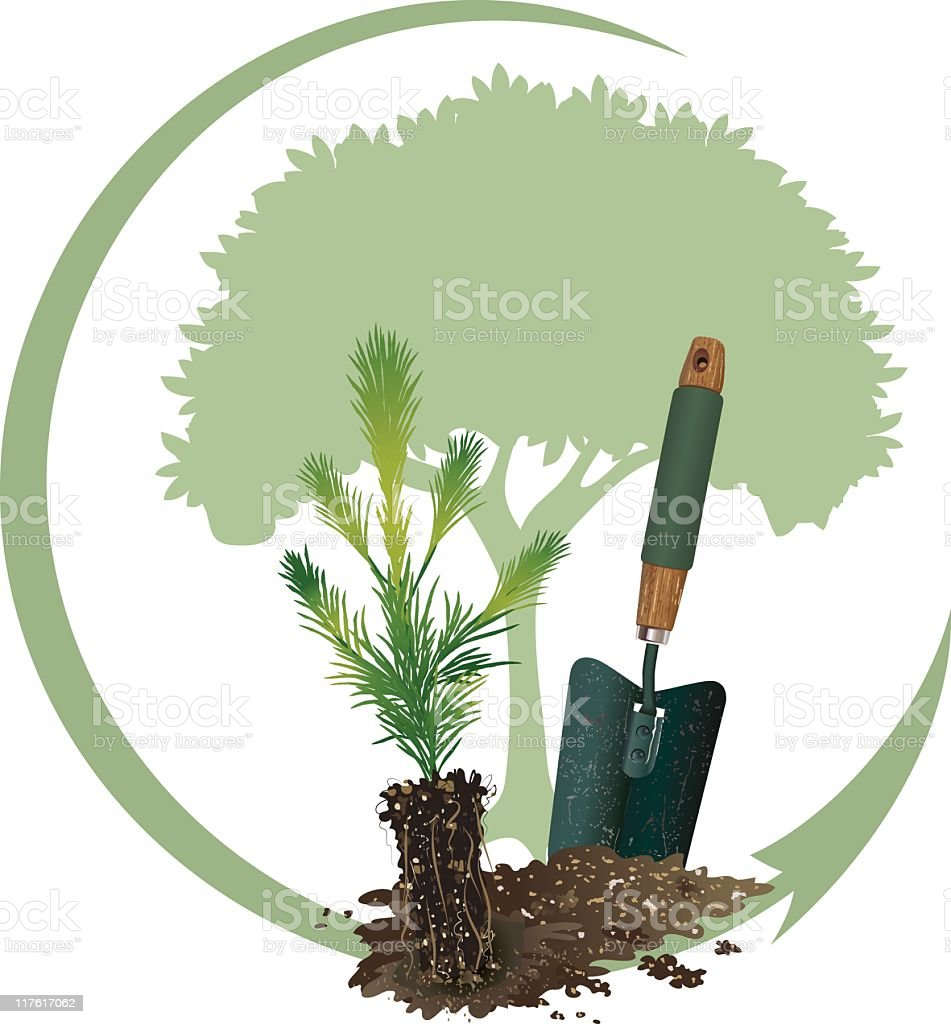Arbor Day Tree Planting royalty-free arbor day tree planting stock vector art & more images of arbor day