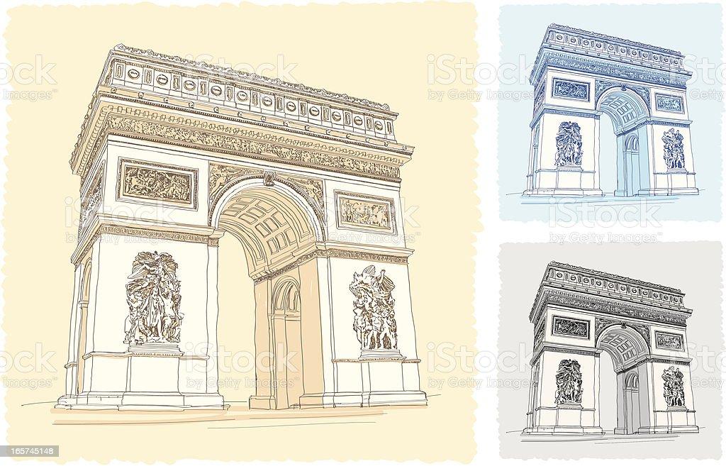 Arc de Triomphe royalty-free arc de triomphe stock vector art & more images of arc de triomphe - paris