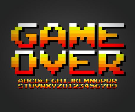 Arcade game font vector