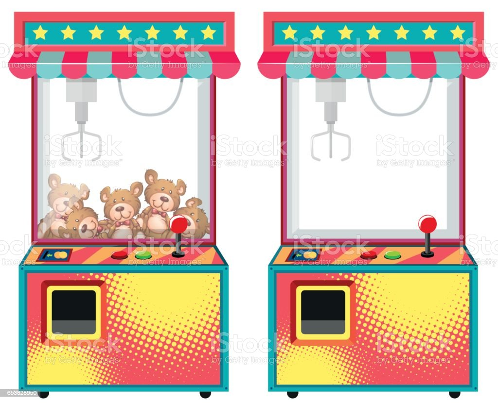 Arcade Game Machines With Dolls Stock Vector Art More