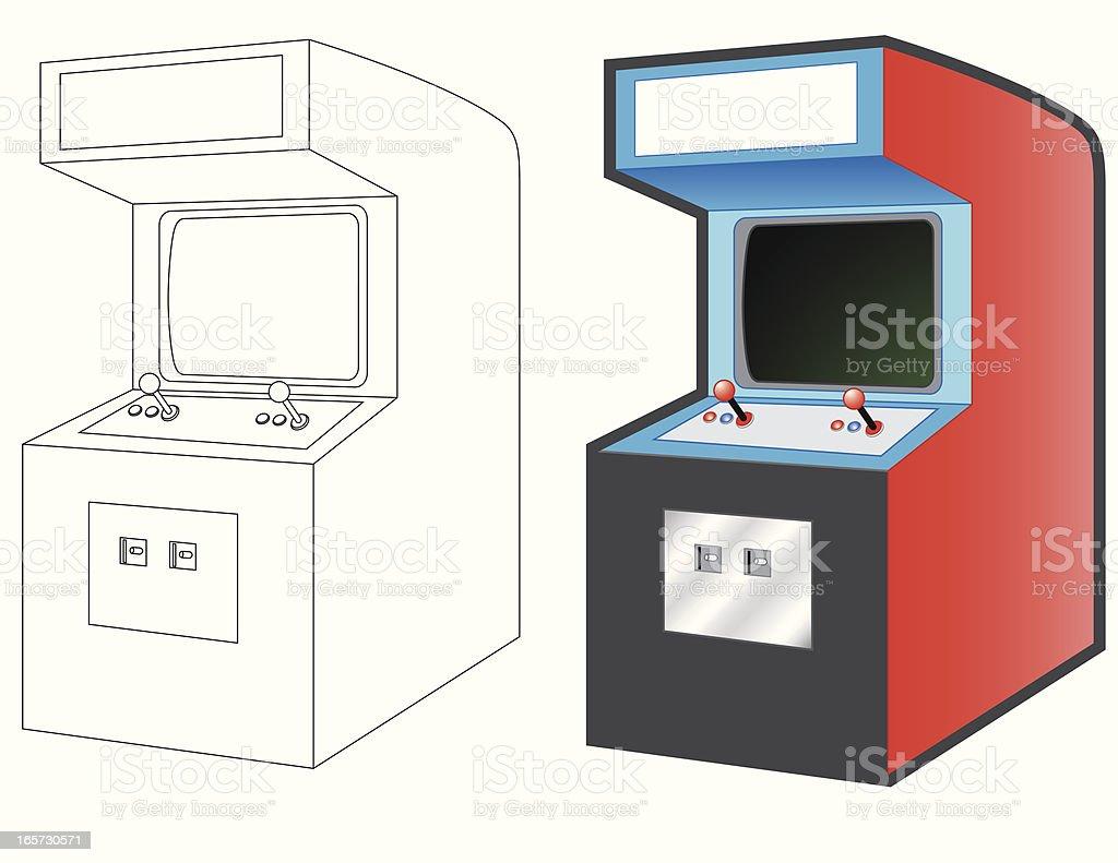 Arcade Machines royalty-free stock vector art