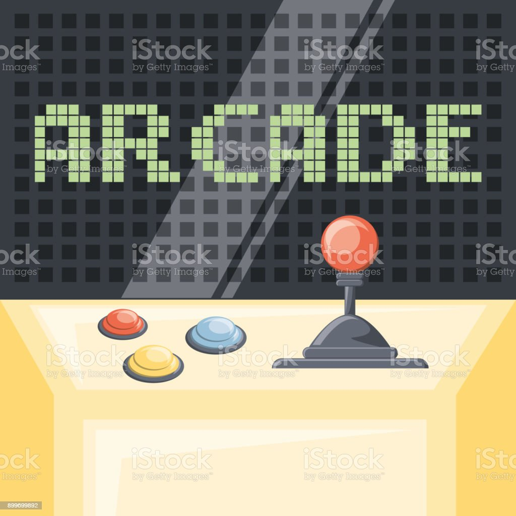 arcade video game design arcade video game design - immagini vettoriali stock e altre immagini di arcata royalty-free