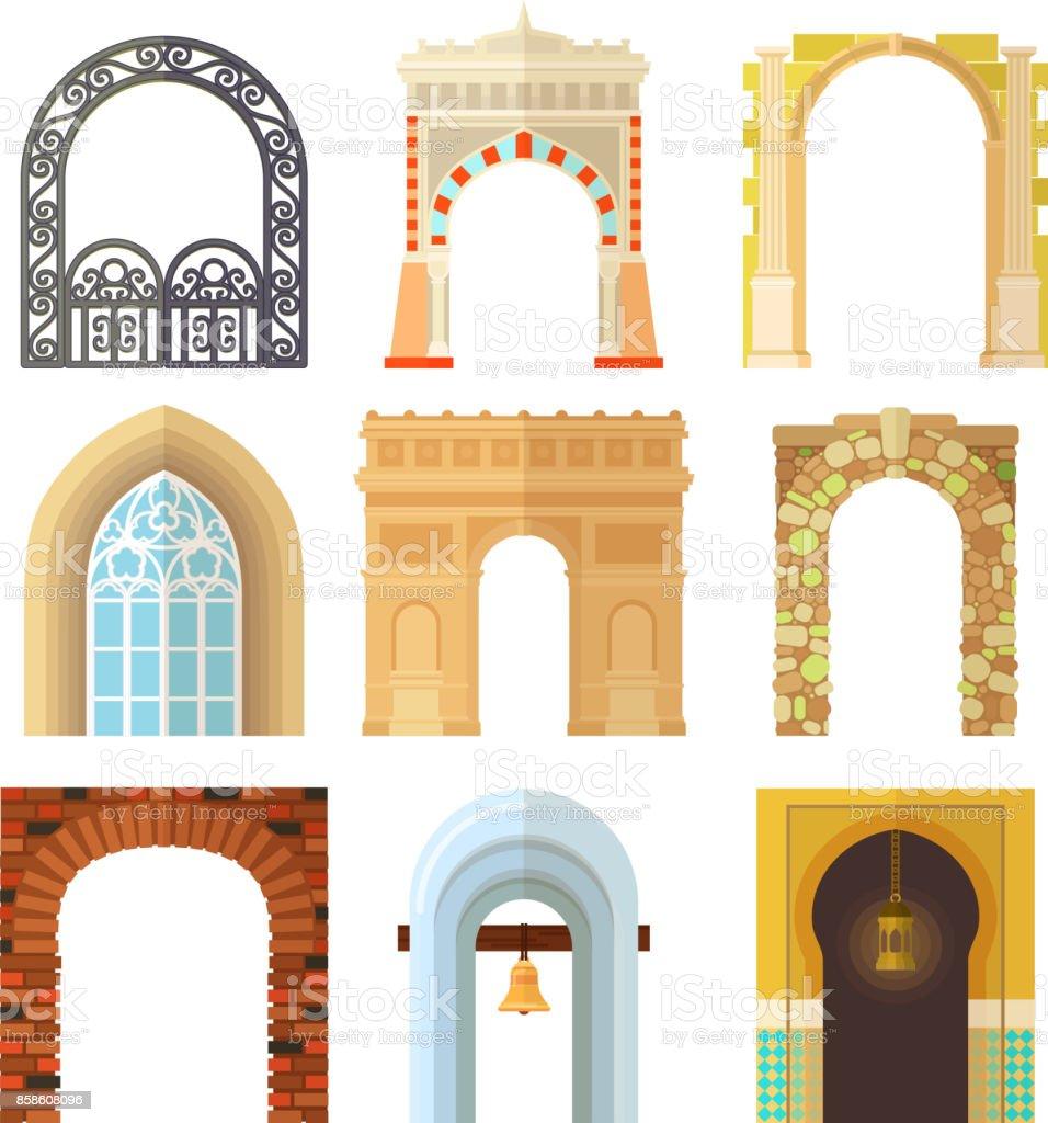 Ilustración de Arco Diseño Arquitectura Construcción Marco Clásico ...