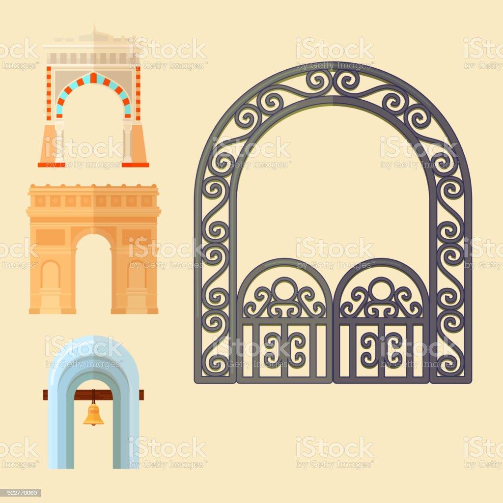 Ilustración de Marco De Construcción De Arquitectura De Diseño ...