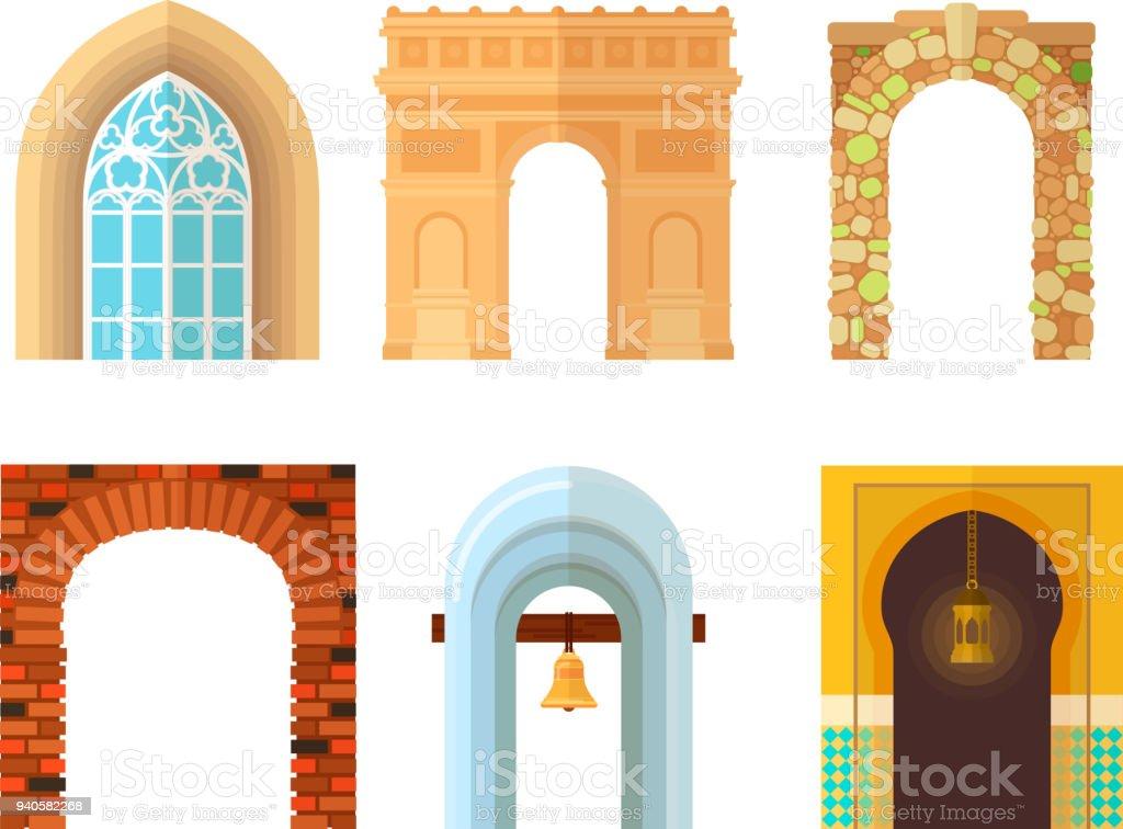 Bogen Sie Design Architektur Einbaurahmen Klassische Spalte Struktur ...